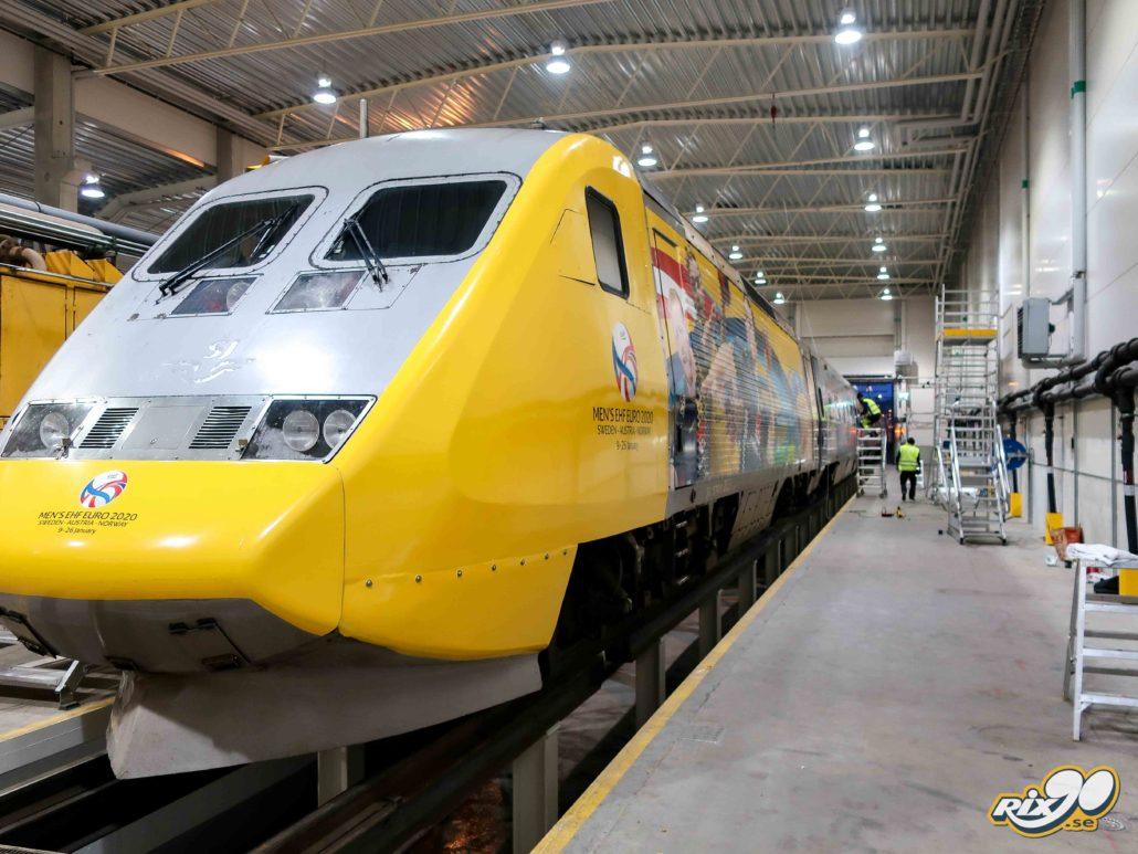 Helfoliering av tåg och lok för Men's EHF Euro 2020