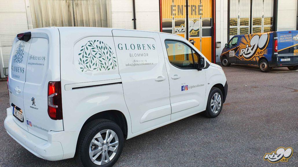 Bildekor med dekaler och logotyper till Peugeot