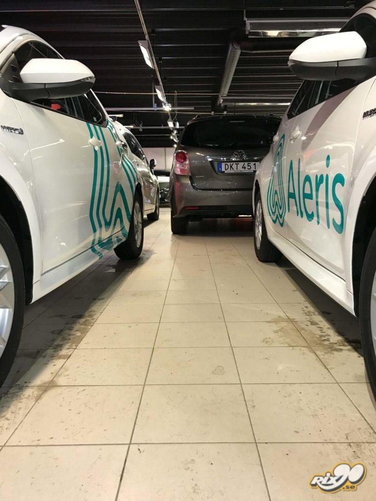Bildekor till Aleris fordonspark i Stockholm
